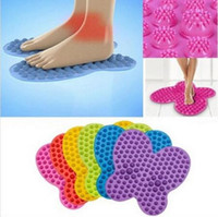 Новинка 6 цветов Futzuki Reflexology Mat Foot Treatment Бабочка Pattern Reflexology Масса для ног Масса CCA6620 100шт.