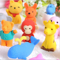 30 Style Mix Lovely Cartoon Animals Pencil Eraser Cute Rubbe...