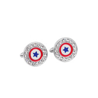 Captain America Cufflinks red color fashion novelty superher...