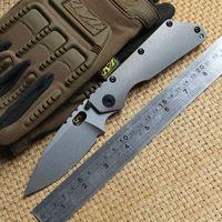 ST SMF Carpeta de titanio mango D2 cuchilla arandelas de cobre Cuchillo plegable acampar al aire libre caza engranaje Cuchillos tácticos EDC defensa personal herramientas