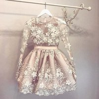 Stunning 3D Appliques Homecoming Dresses With Long Sleeves S...