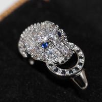 Victoria Wieck Handmade Atacado Jóias de Luxo 925 Prata Esterlina Azul Safira CZ Diamante Partido Marca Mulheres Casamento Leopardo Anel Size6-9