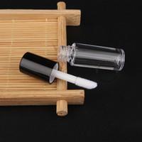 Mini tubo de brillo labial transparente vacío de 0.8 ml - botella de bálsamo labial de plástico - Tamaño: 5.0x1.3cm Contenedor de muestra de lápiz labial recargable de viaje - Venta al por mayor