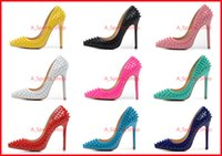 Sexy Ladies High Heels Spikes Shoes 12cm Rivets Studded Dres...