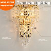 grande K9 lampada da parete apparecchio staffa crysting lampadario cristallino oro cristallo vintage applique da parete lampada LED opzionale