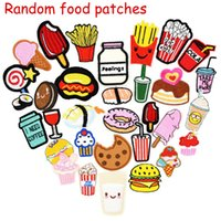 10 pcs Random Diy food drink for clothing iron embroidered p...