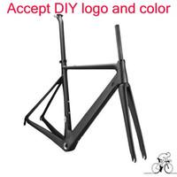 2017 melhor venda bicicleta de estrada quadro de carbono T1100 1 k / 3 k quadro de bicicleta quadro de bicicleta quadro de quadros de pintura DIY preto vermelho frete grátis