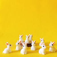 Новые ~ 20 шт / кролик / миниатюры кролик / милые милые / сказочный садовый гном / мох декор террариум / поделки / бонсай / статуэтка / статуя