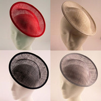 20cm Solide Runde Sinamay Base Fascinator Hut Basis Sinamay Base Fascinator Hut Handgemachte DIY Fascinator Basen 5psc / lot