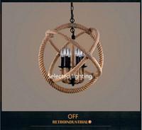 Lampade a sospensione corda vintage ORB Lampade a sospensione lampadario RH Lampade da tavolo a luce decorativa