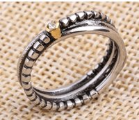 2017 NEW pure stainless steel name rings single row female, ...