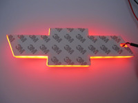 4D auto LED Emblem 170x55 mm Logo LED LED Bianco Bianco Blu Red Symbos Symbos Distintivi