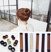 2017 mode Outils de magie des cheveux Bun Maker liens de cheveux fille bricolage style Donut ancien mousse cheveux arcs français Twist outils magiques fabricant de pain