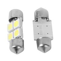 2 배 백색 가벼운 12V 3/4 LED 5050 SMD 축사 돔 차 빛 내부 램프 전구 M00034