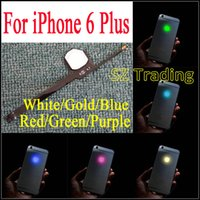 IPhone 6 için Artı Parlayan Logo DIY Lüminesans Gece Glow iPhone6 Için Serin Işık Parlaklık Geri Logosu Artı LED Logo Ücretsiz Kargo