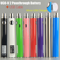 Original UGO V II 2 650 900mah EVOD ego 510 Battery micro US...