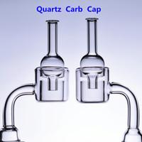 Double Quartz Banger Carb Kappe Nagel Thermal 14mm 18mm männlich weiblich 18,8mm Rigs Ölglas Bong Rauchen Adapter Wasserleitungen Becher Schalen