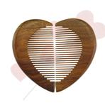Small Heart Shape Pocket Wood hair Combs Lovers Couple Boy G...