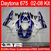blanco 8 Regalos 23 colores para Triumph Daytona 675 02 03 04 05 06 07 08 Daytona675 4HM2 Daytona 675 2002 2003 2004 2005 2006 2007 2008 Carenado