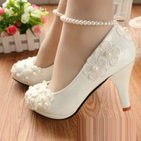 2017 summer flat single shoes new red hand marriage marry th...