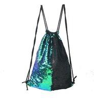Lady Bundle tasca di modo Blingbling sirena di paillettes Sport entrambe le spalle borsa da viaggio esterna Deposito Zaini multi colori 22lj C R