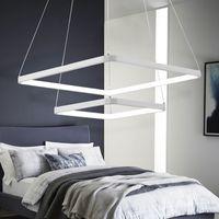 Moderno, elegante, cuadrado, aluminio, LED, luz colgante, lámpara de acrílico, anillo simple, anillo doble, 3 anillos, accesorio de iluminación decorativo para el hogar