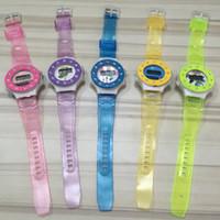 Color caramelo Semitransparente Faux Diamond Watch niños niñas niños estudiantes reloj reloj deportivo digital regalos para niños envío gratuito de DHL