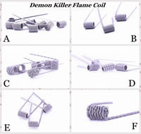 100% Authentic Demon Killer Flame Coil Prebuilt Wire 316L Pre-built Heating Premade Wires 6 Types Resistance For DIY Vape Atomizers RDA eCig