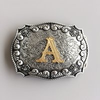 Men Belt Buckle New Western Cowboy Initial Letter A - L Belt...
