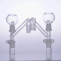 Accessoires pour fumeurs Bong adaptateur de cendrier adaptateur 14mm mâle 18mm femelle plate-forme pétrolière tamponner barboteur verre conduites d'eau bécher bols 18.8mm narguilés