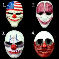 (4 Teil / satz) Großhandel PVC Scary Clown Maske Payday 2 Halloween Maske Für Antifaz Party Mascara Carnaval