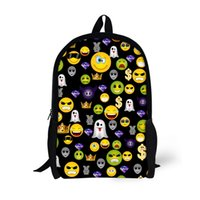 16 Inch Emoji Backpacks for Students Customized Printing Bag...