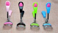 6 renkler Bayanlar Makyaj Göz Curling Kirpik Bigudi tarak ile Kirpik Bigudi kalp kolu Klip Güzellik Aracı Şık X008