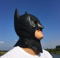 Halloween cosplay batman látex de cara completa Máscara adulta fiesta de disfraces de Navidad superhéroe Knight mask COWL Festive supplies regalo