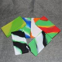 حاويات كبيرة مسطحة waxmate كبيرة سيليكون المطاط تخزين مربع شكل الشمع الجرار dab تركيز أداة dabber حامل النفط ل بونغ
