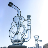 11 Inch Inline Perc Glass Bongs Klein Recycler Glass Dab Rig...