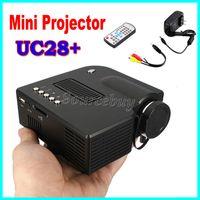 UC28 + LED Mini tragbares Licht Heimkino-Videoprojektor LCD Connect Set-Top-Box USB-TV-Spielekonsole DVD-Player Digital Pocket Proyector
