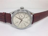 Новые поступления Мужской часы механические автоматические часы для MAN Черный кожаный ремешок верхнего качества наручные часы черный циферблат 103