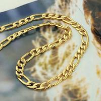 """Real """"24K Gold GF"""" Collar de los hombres 23.6 pulgadas 8mm Cadena Regalo de la mujer para Son Dad Husband"""