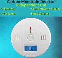 أمن الوطن 85dB تحذير عالية الحساسية LCD كهروضوئية مستقلة CO الغاز الاستشعار أول أكسيد الكربون التسمم إنذار الكاشف