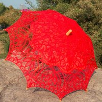5 Colors Sun Lace Umbrella Parasol Embroidery Bride Umbrella...