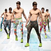 Running Men Sports Camouflage Stretto Pantaloni Fitness alta compressione elastica Running Football Leggings di pallacanestro