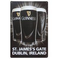 Guinness St.James 's Gate 더블린, 아일랜드 빈티지 홈 장식 주석 표지판 금속 플라크 멋진 금속 플레이트 금속 포스터
