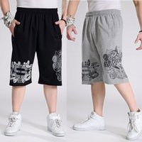 Men Hip Hop Pants Plus Size L- 6XL Cotton Shorts Summer Fashi...