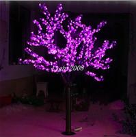 LED artificielle Cerise Blossom Arbre Lumière De Noël lumière 1248 pcs Led Ampoules 2 m / 6.5 ft Hauteur 110 / 220VAC étanche à la pluie Une Utilisation En Extérieur Livraison Gratuite