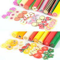 Yeni 100pcs / pack Nail Art 3D Meyve Fimo Dilimleri Polimer Kil DIY Dilim Dekorasyon Tırnak Sticker