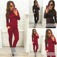 Autumn Women Solid Tracksuits Hoodies Sweatshirts Long Pants...