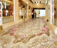 Photo custom any size New Custom 3D Beautiful High-end marble texture tiles parquet 3D floor tiles