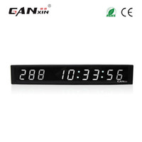 [Ganxin]1 inch 9 Digits LED Wall Clock White Color LED Displ...