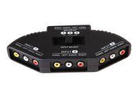 Nouveau sélecteur de haute qualité 3 ports sélecteur vidéo jeu AV signal commutateur câble AV RCA AV Splitter convertisseur audio pour XBOX pour PS TV